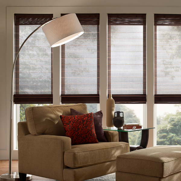 Roman Shades by Lutron in Austin Texas